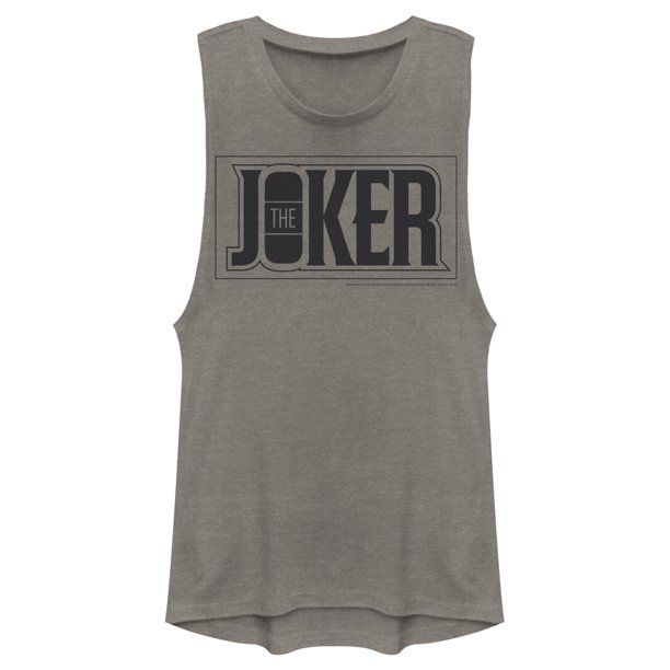 Batman Juniors' Joker Text Logo Muscle Tee