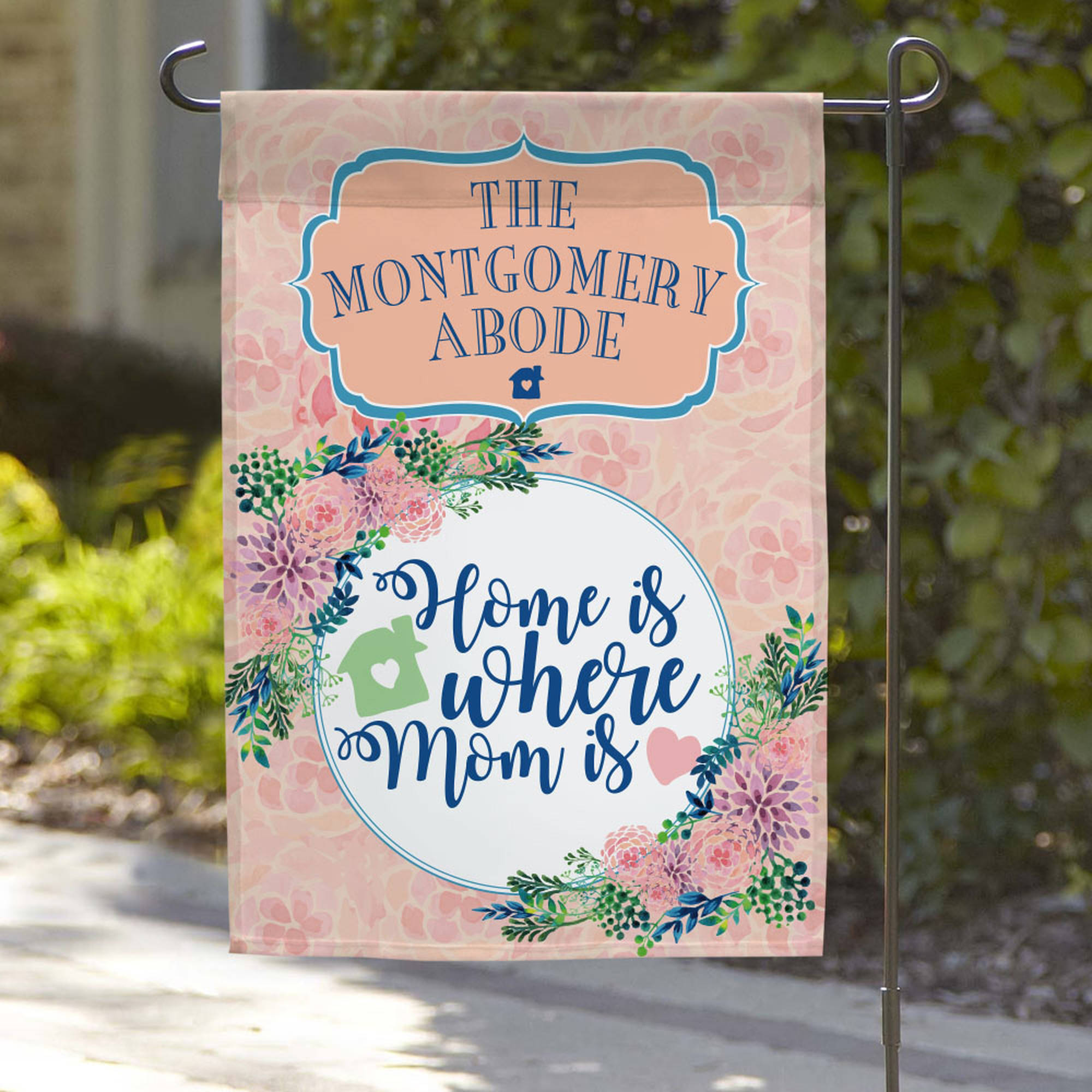 "Home Is Where Mom Is Custom Garden Flag, 18"" x 12"""