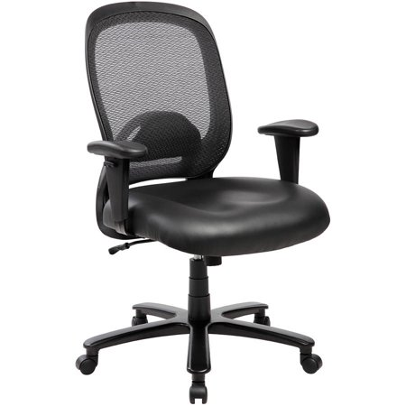 Techni Mobili Comfy Big and Tall Office Chair with Arms and Wheels, up to 400 lbs