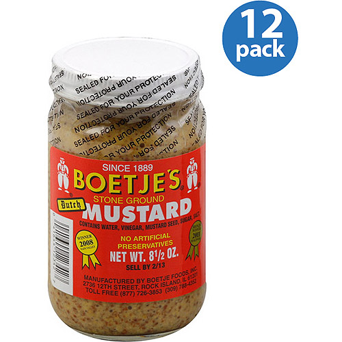 Boetje's Stone-Ground Dutch Mustard, 8.5 oz, (Pack of 12)