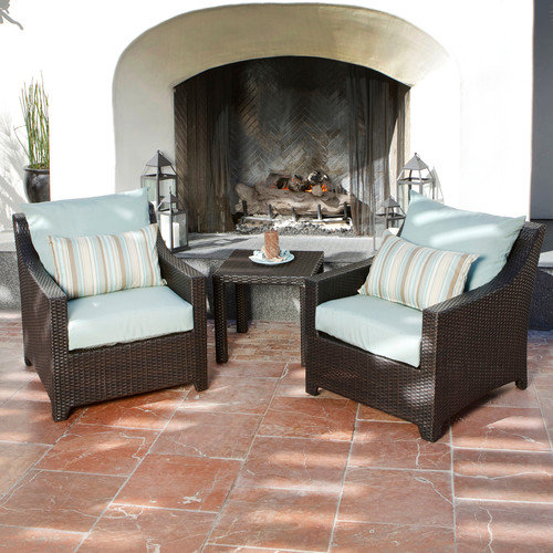 RST Outdoor Bliss 3 Piece Deep Seating Group with Cushions