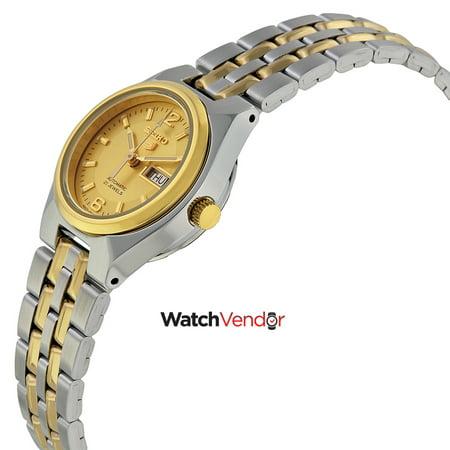 Seiko 5 Automatic Gold Dial Two Tone Ladies Watch Symk34 Walmart Canada