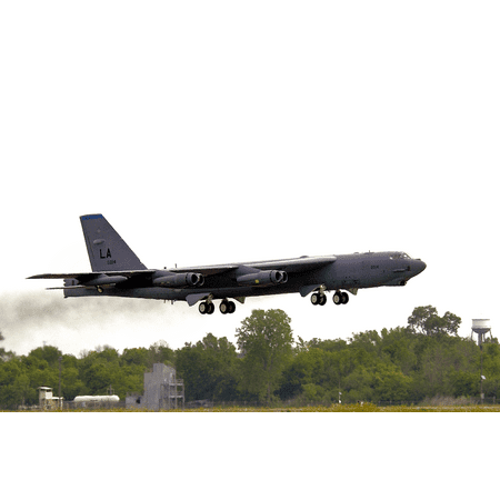 LAMINATED POSTER BARKSDALE AIR FORCE BASE, La.A B-52 Stratofortress of the 2d Operations Group takes off from her Poster Print 24 x
