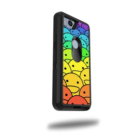 """MightySkins Skin For OtterBox Defender Google Pixel 2 5"""" Case - Bright Smoke 