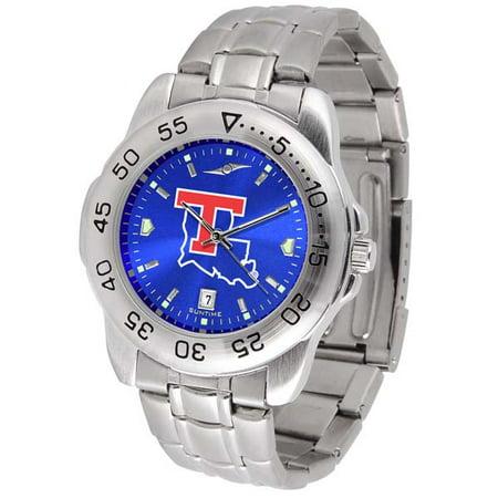 (Louisiana Tech Sport Anonized Men's Steel Band Watch)