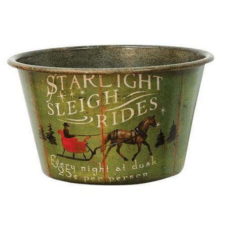 Green Koi (Sleigh Rides Vintage Tin Bowl )