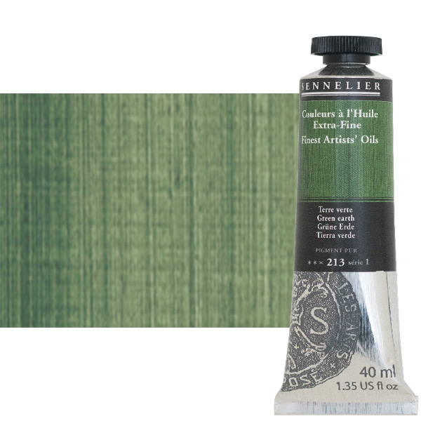 Sennelier Artists' Oil Paints-Extra-Fine 40 ml Tube - Green Earth