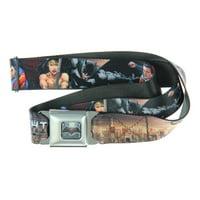 Batman v Superman Dawn of Justice Seatbelt Belt (Together We Fight)-Holds Pants Up