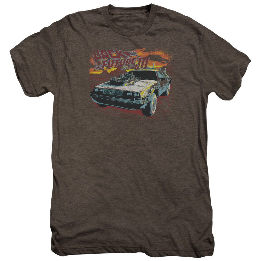 Back To The Future Iii Wild West Mens Premium Tee Shirt