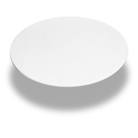 Carnation Home Fashions White 60 Inch Round Fitted Vinyl Tablecloth (Fitted Tablecloths Round)