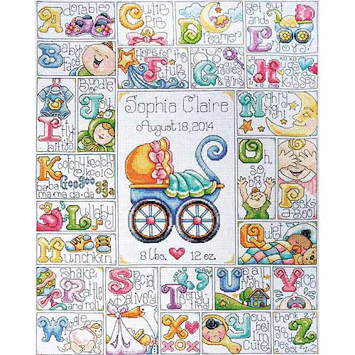 Tobin Baby ABC Counted Cross-Stitch Kit, 14-Count