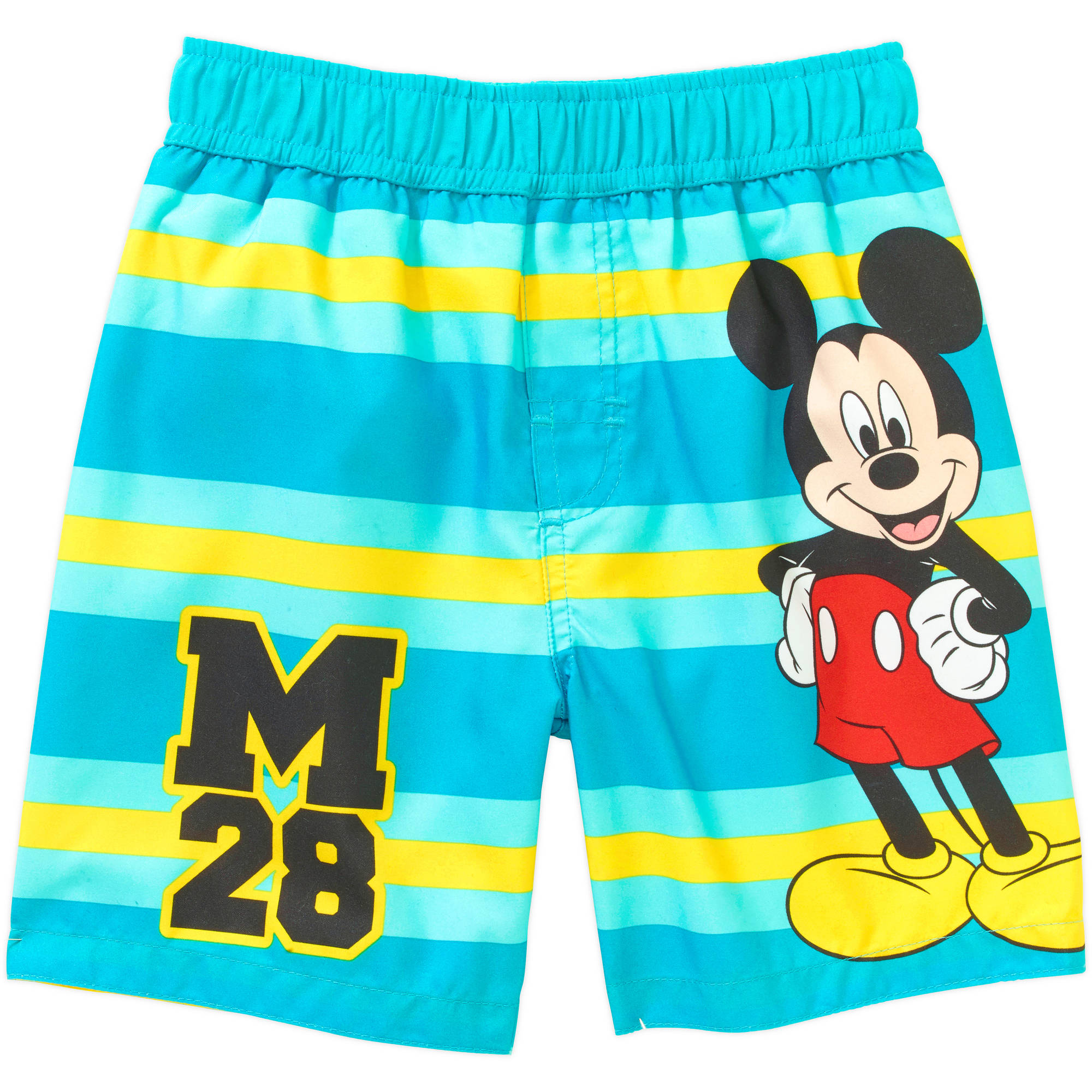 Mickey Mouse Toddler Boy Striped Swim Trunks