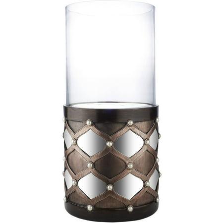 Arabesque Mirror Floor Candleholder, Dark Espresso ()