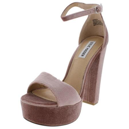 1f7e1435510 Steve Madden Womens Gonzo-V Velvet Platform Dress Sandals Pink 9 Medium  (B,M)