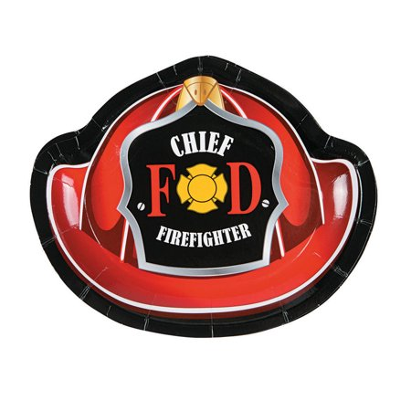 - Firefighter Cake Plates (8 Pack)