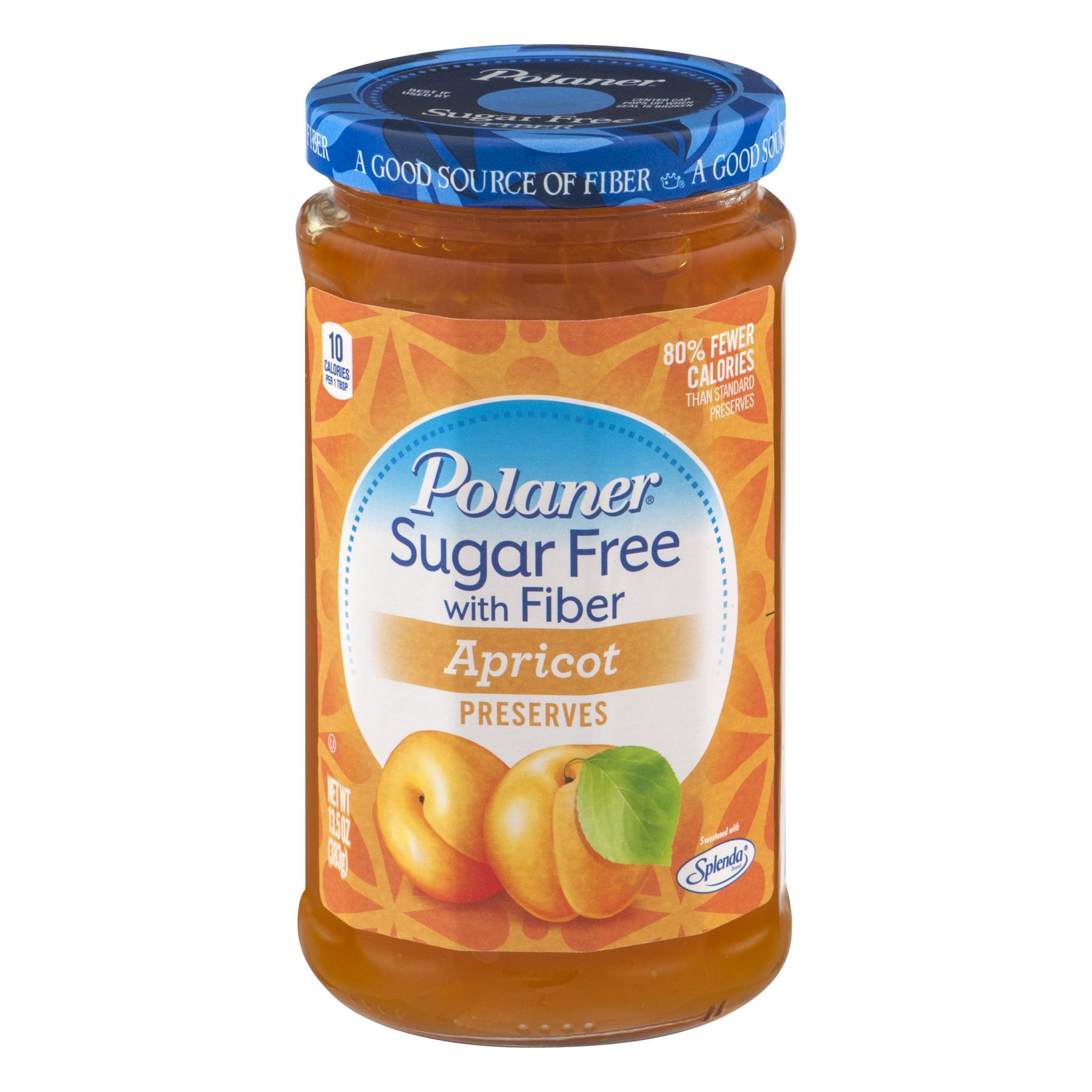 Polaner Sugar Free with Fiber Apricot Preserves, 13.5 OZ