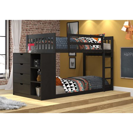 - Donco Kids Twin Over Twin Mission Chest Bunk Bed