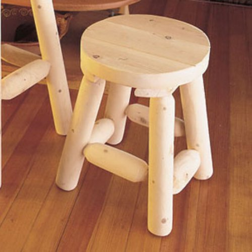 Rustic Natural Cedar Furniture 18 in. Old Country Stool - Set of 2