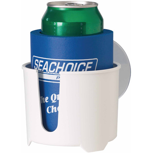 Seachoice White Drink Holder with Large Super Suction Cups by Seachoice Products