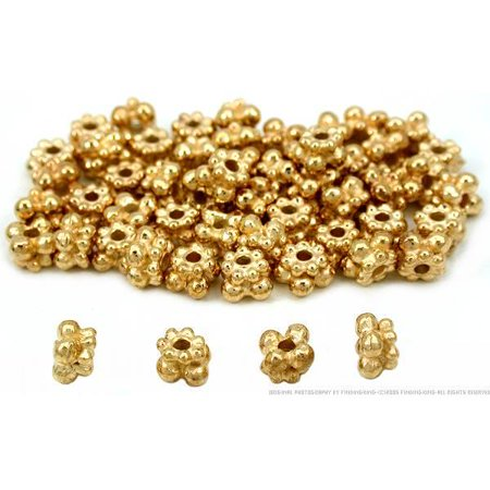 Bali Spacer Beads Gold Plated Jewelry 5mm Approx 50