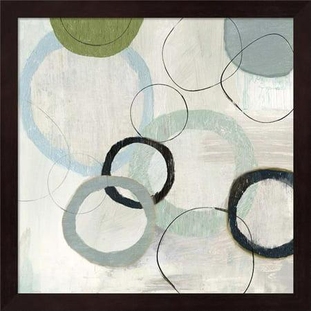 Metaverse R949221-0120000-AEAAAADAN4 13.25 x 13.25 in. Blue Circles II Framed Wall Art by Tom Reeves - image 1 de 1