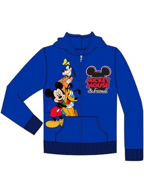 Disney Toddler Mickey Friends Goofy Pluto Zip Up Hoodie, Royal Blue 2T