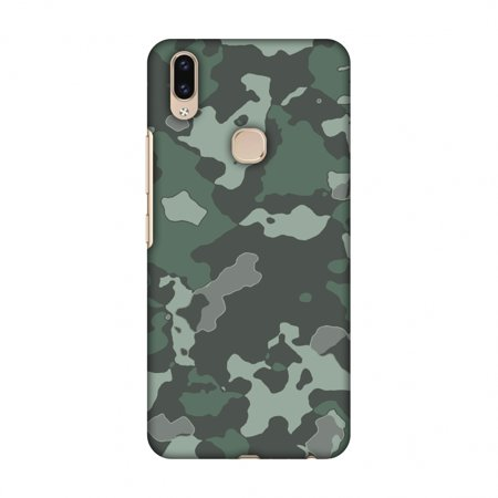 newest collection 1f994 654c6 Vivo V9 Case - Camou- Amazon green, Hard Plastic Back Cover, Slim Profile  Cute Printed Designer Snap on Case with Screen Cleaning Kit