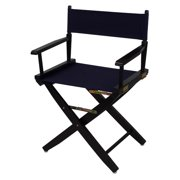 Extra-Wide Premium Directors Chair with Navy Canvas