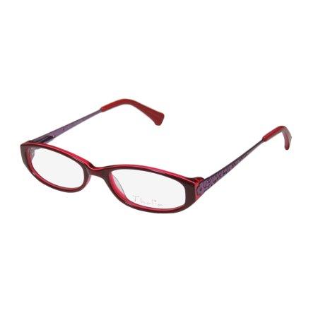 Valet Cherry (New Thalia Florita Womens/Ladies Designer Full-Rim Cherry / Violet Gorgeous Full-rim Beautiful Frame Demo Lenses 44-16-120 Flexible Hinges Eyeglasses/Spectacles )
