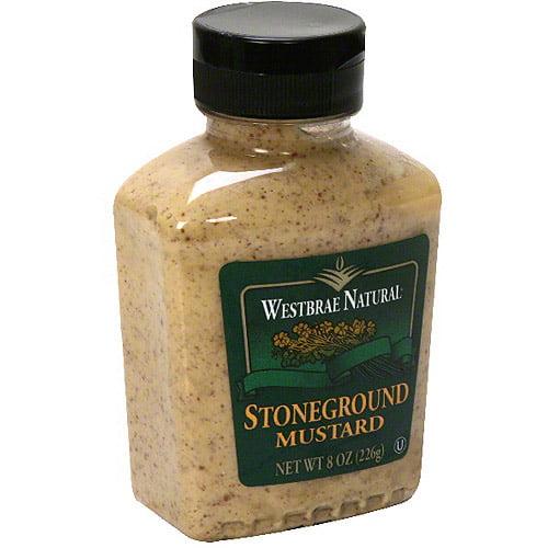 Westbrae Natural Stone Ground Mustard, 8 oz (Pack of 12)