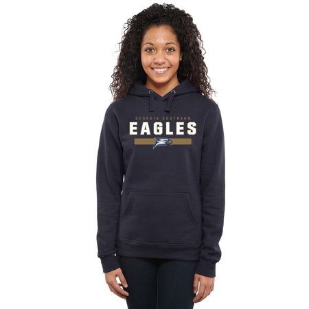 Georgia Southern Eagles Womens Team Strong Pullover Hoodie - Navy Blue Georgia Womens Eagle Light