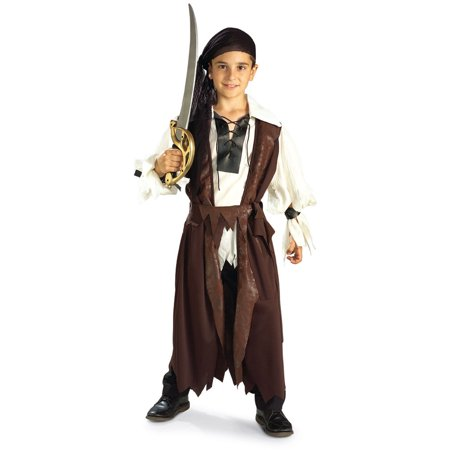 Child Boy's Caribbean Pirate Buccaneer Costume Size Large 12-14 - Pirate Costume Kids