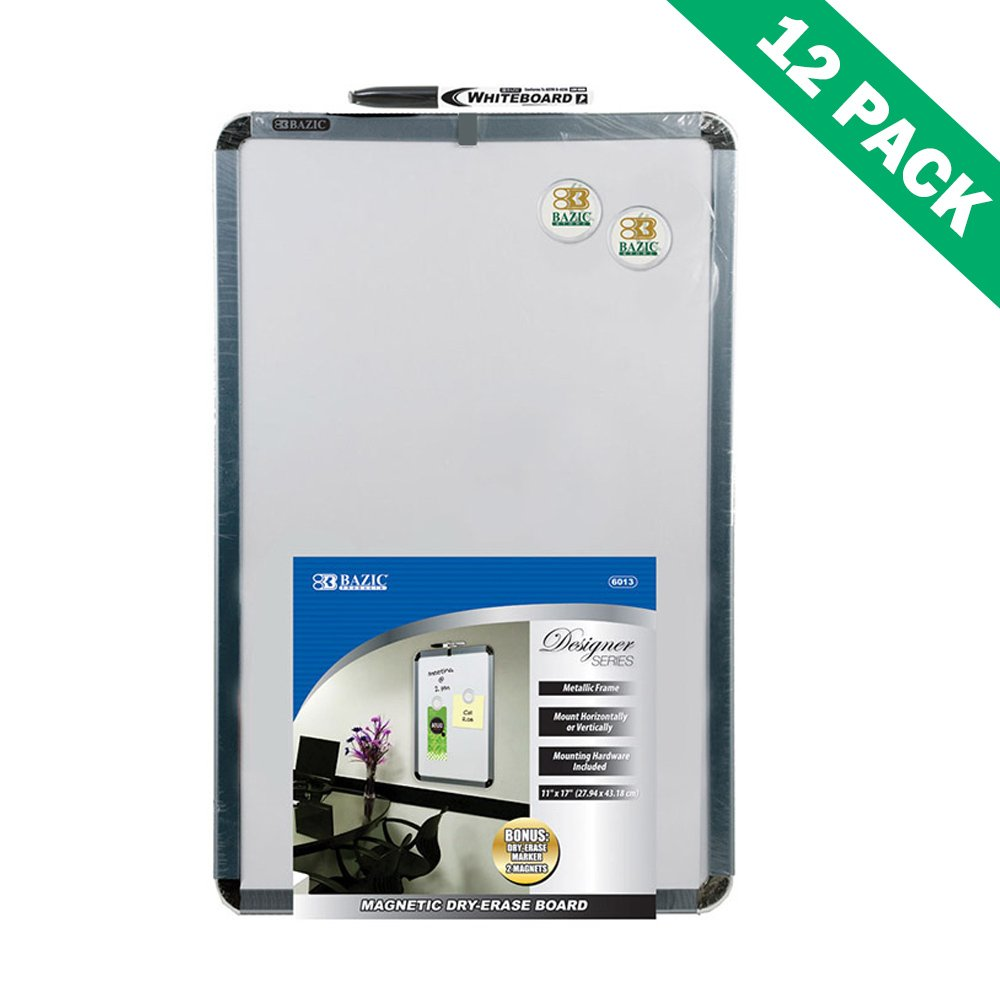 Magnetic Dry Erase Board, Small White Erase Board Set Of 12 With Marker