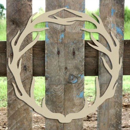 Antler Wreath Wooden (MDF) Cutout - Unfinished DIY Craft](Antler Crafts)
