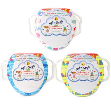 1 Baby Toilet Seat Travel Potty Training Soft Cushion Padded Cover Toddler (Potty Pal Toilet Seat)