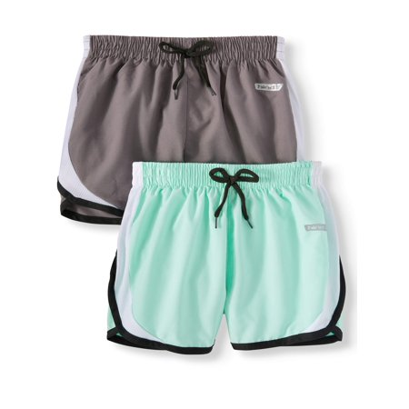 Active Running Shorts, 2-Pack (Little Girls & Big (Low Rise Running Shorts)