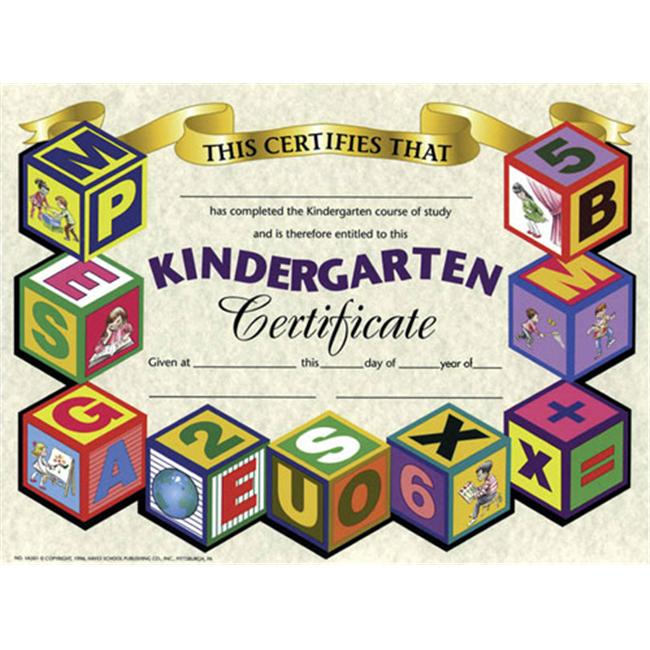 HAYES SCHOOL PUBLISHING H-VA501 CERTIFICATES KINDERGARTEN-36/PK 8-1/2 X 11