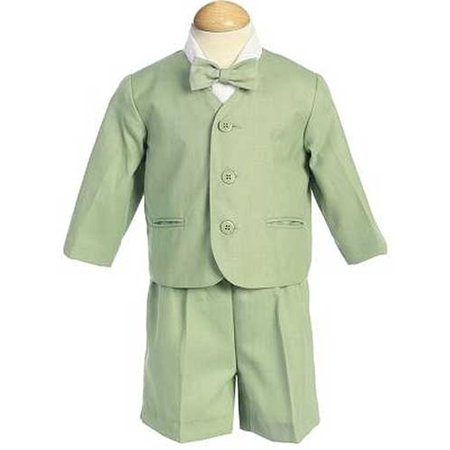 Boys Green Eton Short Formal Ring Bearer Easter Suit 12M-4T - Ring Bearer Outfits