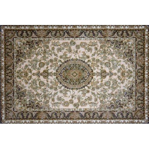 Astoria Grand Montello Hand Look Persian Wool Brown/Green/Ivory Area Rug
