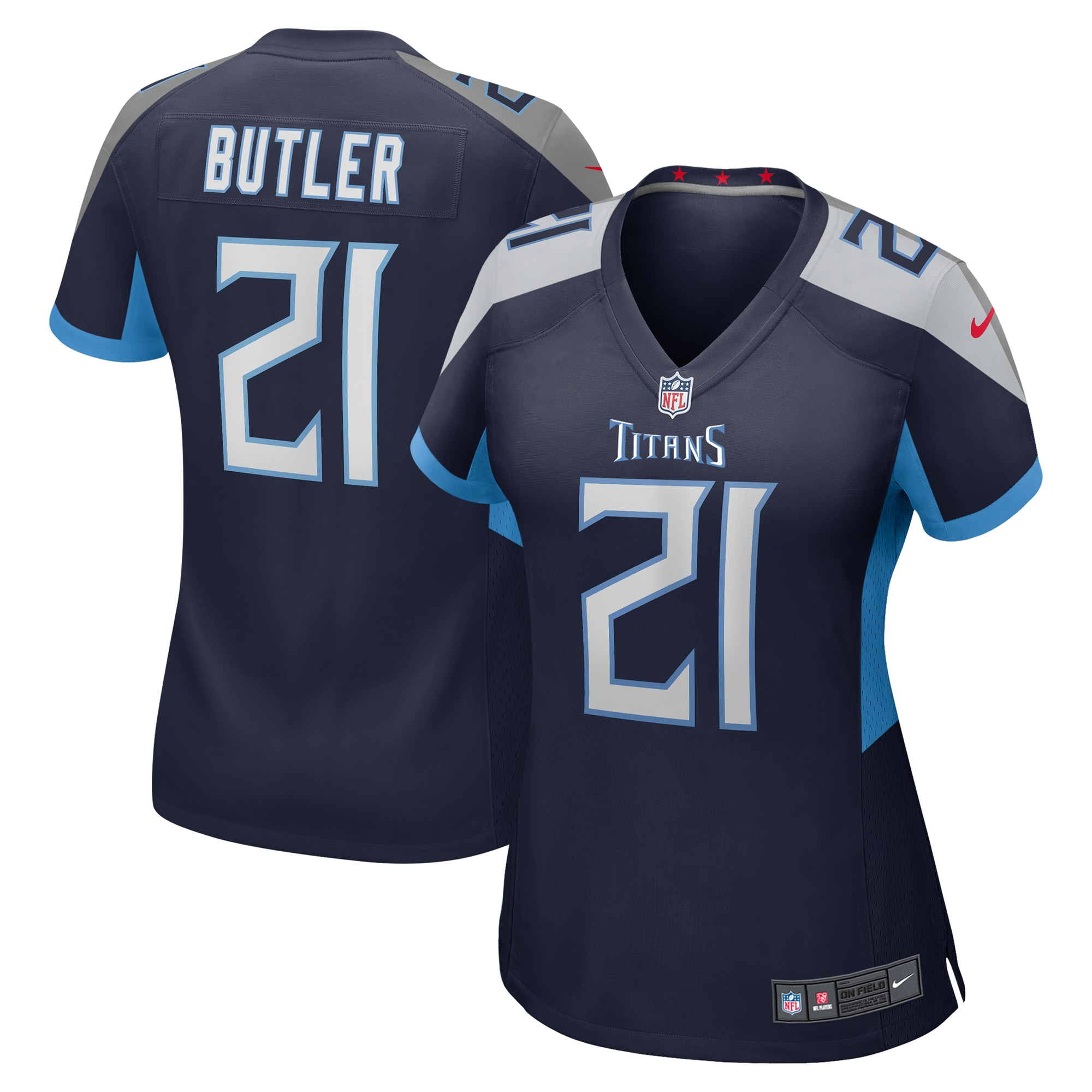 Malcolm Butler Tennessee Titans Nike Women's Game Jersey - Navy - Walmart.com