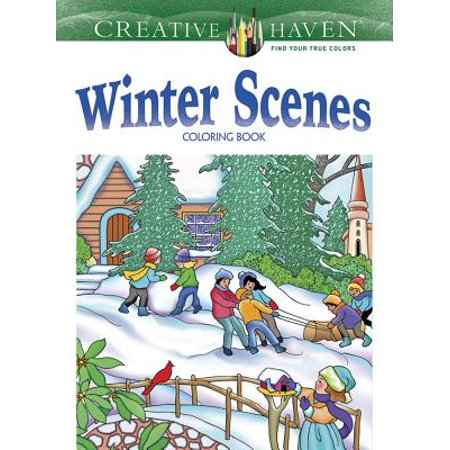 Winter Coloring Sheet (Creative Haven Winter Scenes Coloring)