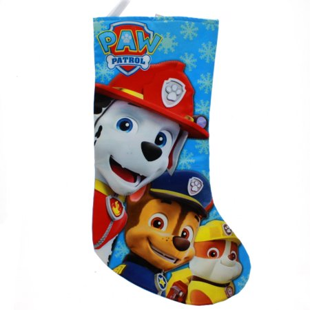 19 Inch Paw Patrol Characters Satin Christmas Stocking](Little Christmas Stockings)