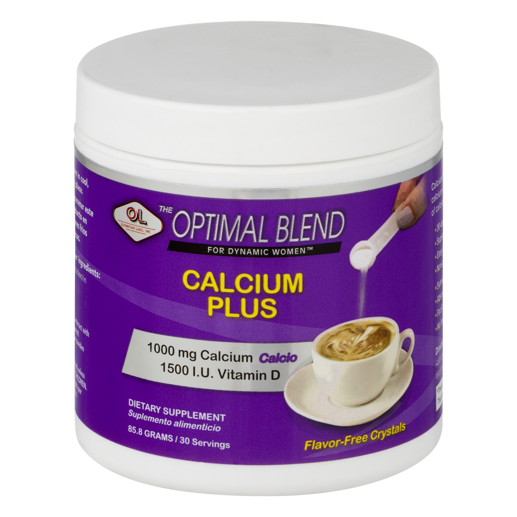 Olympian Labs The Optimal Blend for Dynamic Women Calcium Plus Dietary Supplement, 85.8g