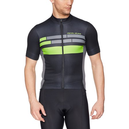 Pearl iZUMi Elite Escape Graphic Jersey Black/Screaming Green Segment