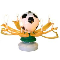 Soccer Trophy Birthday Candle