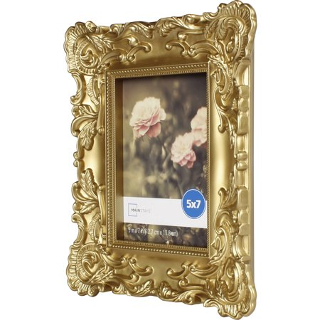 Mainstays 5x7 Baroque Picture Frame Gold