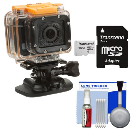HP AC300w 1080p HD Wi-Fi Action Camera Camcorder - Refurbished with 16GB Card + Cleaning (Best Quality Camcorder Under 300)