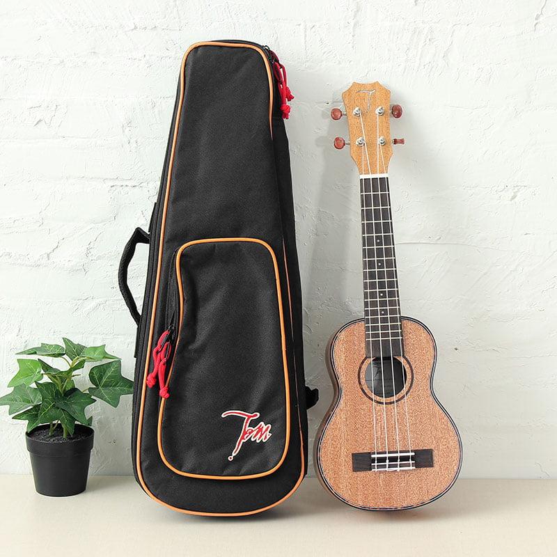 Tom TUS-200 Uke Ukulele Mahogany Rose Wood Hand Make With Gig Bag Gift,21 Inch by