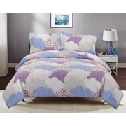 Mainstays Purple Cloud Comforter Set