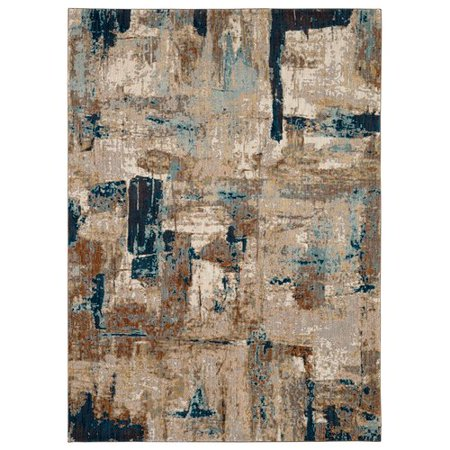 Karastan Intrigue Envision Light Blue Brown Area Rug Walmart Com